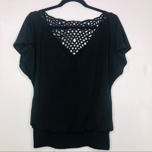 White House black market woman's black blouse